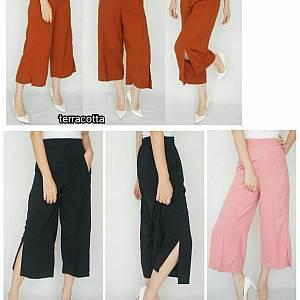 Slit Culottes Pants