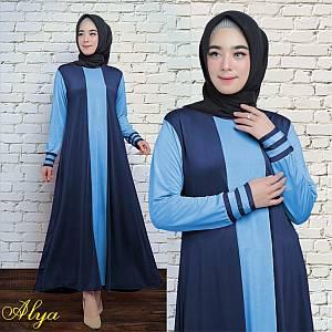 1). 46-Alya dress Navy (REAL PICT)