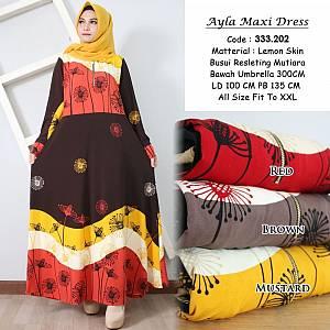 Maxi Dress Lemon Skin