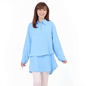 blouse hiraku biru muda