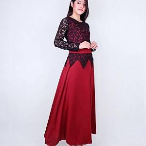 Long dress queen maroon