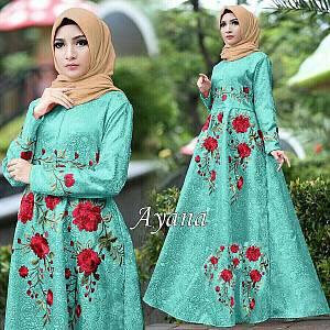 1). 46-Dress Ayana embos turkis