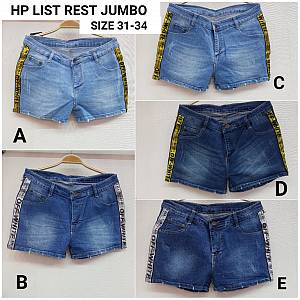 Hotpants List Resletting jeans