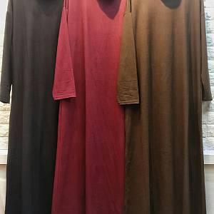 Ready warna maroon & brown Gamis Turtleneck