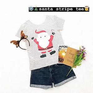 Santa stripe tee