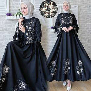 FC- Maxi flower REAL PIC BLACK
