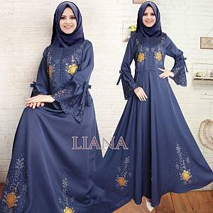 sL- Maxi Liana flower REAL PIC Navy