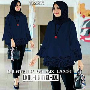 46-Azka top Navy