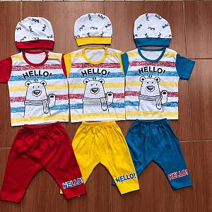 Setelan Baby Set Hello Bear