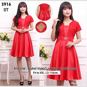 Dress brukat saten 3916