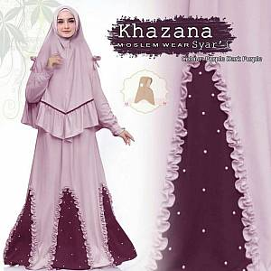 1). Khazana syari purple