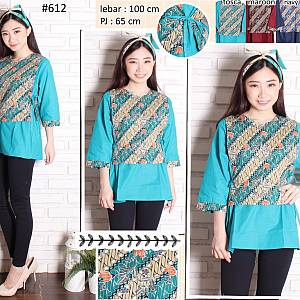 Blouse Batik atasan kombinasi