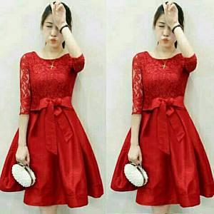 Dress crismas red