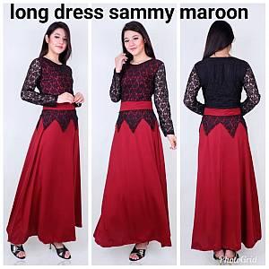 Long dress sammy maroon