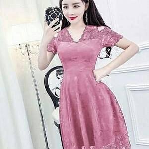 1). LVR.8 DRESS HANIN PINK