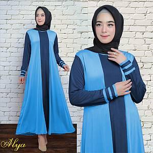 1). 46-Alya dress Softblue (REAL PICT)