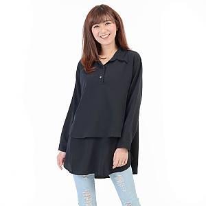 blouse hiraku hitam