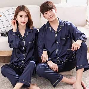 couple piyama korea navy