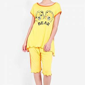 Khloe Bear 805-10 Sleepwear set orange