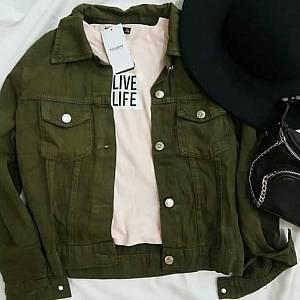 1). Jaket Zara Jeans ARMY