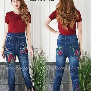 Pm leggung jean red rose