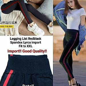 Pm legging list red black