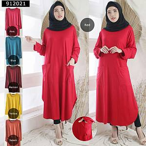 Long tunik oval rayon