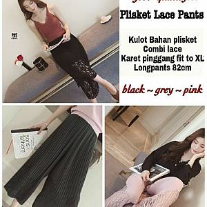 Pm plisket lace pant(no pink)