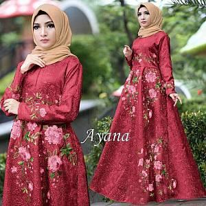 1). 46-Dress Ayana embos marun