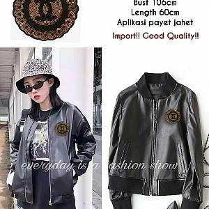 Pm jaket kulit chanel