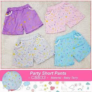 CBB33 PARTY SHORT PANTS
