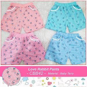 CBB42 LOVE RABBIT PANTS