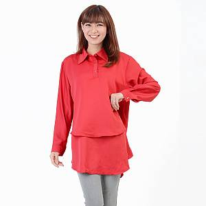 blouse hiraku merah
