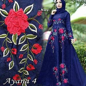 1). 46-Dress Ayana embos navy