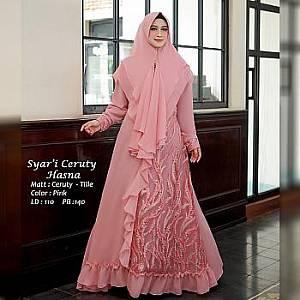 Tk Syari Ceruty Hasna Pink