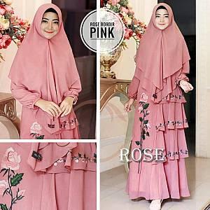 TK1 Syari Rose Bordir Pink