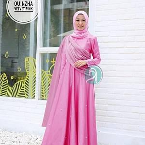 1). TK1 Quinzha Velvet Pink