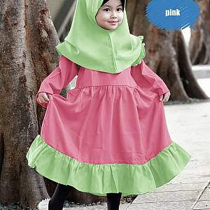 1). BA-07 Aqila Kids Pink