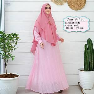 Tk Syari Ceruty Pink Fahira