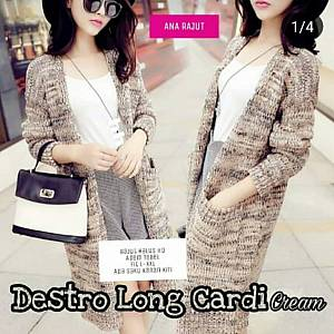 1). sL-Rajut Destro Long Cardy Cream