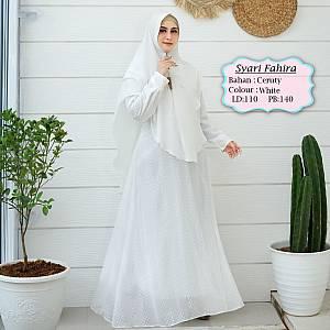 Tk Syari Ceruty White Fahira