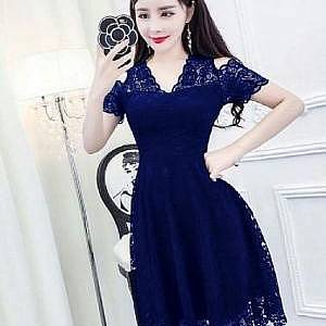 1). LVR.8 DRESS HANIN NAVI