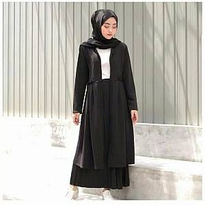1). sL-Zara Kimmy Long Cardi Hitam(Real Pict)