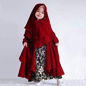 1). LVR.8 KID SOHWA BATIK MAROON