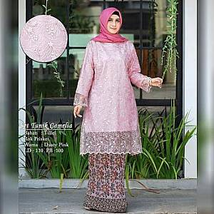 TK1 Set Tunik DustyPink Camelia