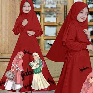 46-Hijabers kids Maroon