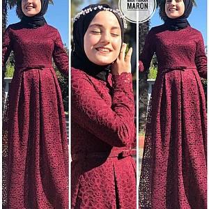 TK1 Maxi Fairah Maroon