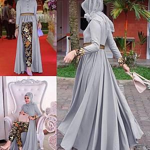 LVR SET Mafaza Grey Batik Set