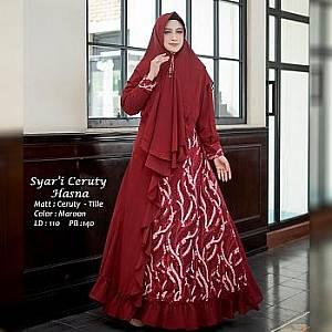Tk Syari Ceruty Hasna Maroon