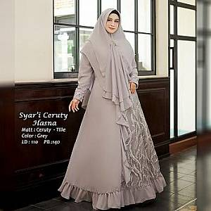 Tk Syari Ceruty Hasna Grey
